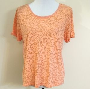 Columbia light weight tee, peach/coral, size Large